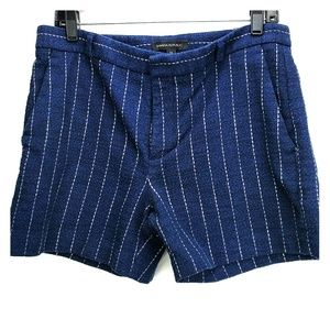 Banana Republic navy blue, striped shorts